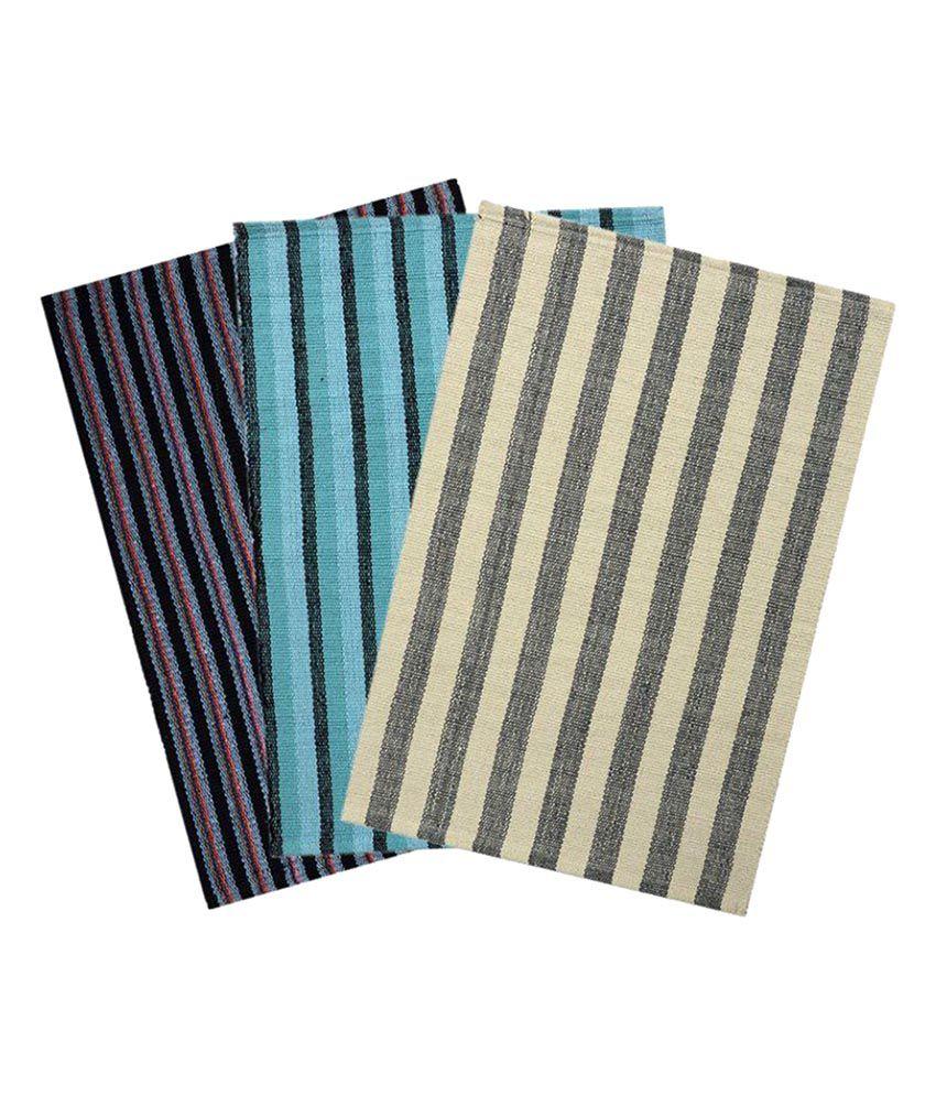 Saral Home Multi Set of 3 Regular Floor Mat