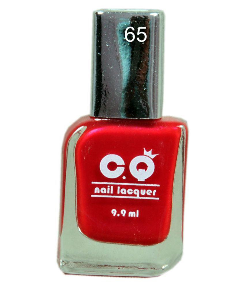 C.Q Nail Polish 65 Hot Red Natural 9.9 ml: Buy C.Q Nail Polish 65 ...
