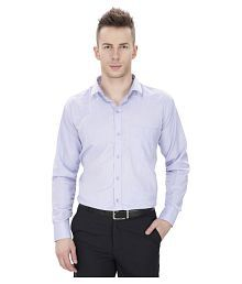 Regal Fit Plus Blue Formal Regular Fit Shirt - 643963304829