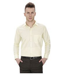 Regal Fit Plus Yellow Formal Regular Fit Shirt