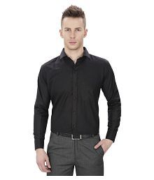 Regal Fit Plus Black Formal Regular Fit Shirt