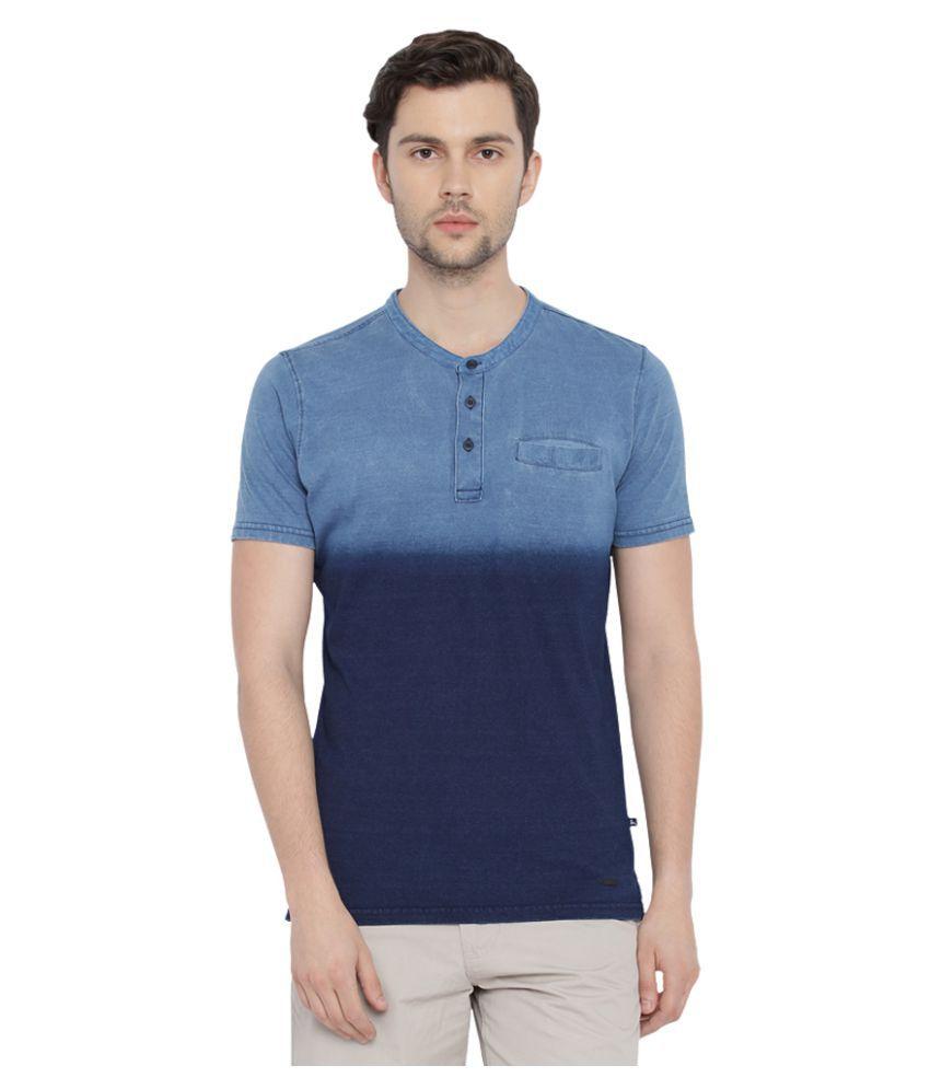 Parx Blue Henley T-Shirt