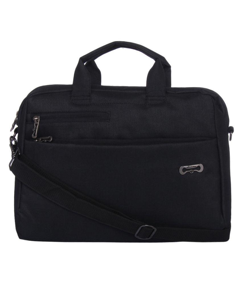 Bendly Black Polyester Office Bag