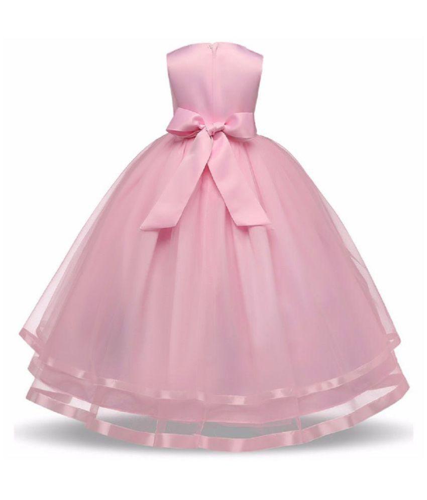 Sofyana Pink Girls Party Wear Wedding Gown Dress - Buy Sofyana Pink ...