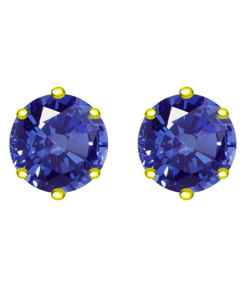 Diyaan 92.5 Silver Sapphire Studs