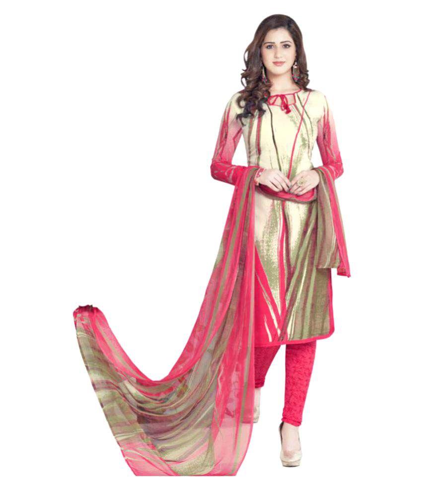 Sri Fashion Multicoloured Chiffon Dress Material