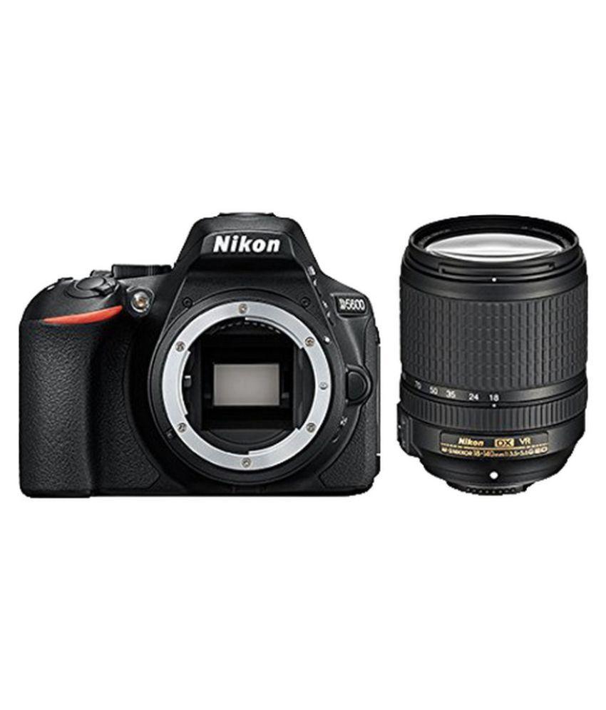 nikon d5600 24 2 mp dslr with af s 18 140mm vr kit lens price in india buy nikon d5600 24 2. Black Bedroom Furniture Sets. Home Design Ideas