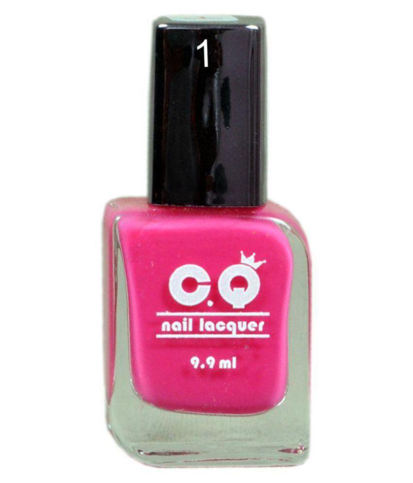 C.Q Nail Polish 01 Pink (Rani Color) Glossy 9.9 ml: Buy C.Q Nail ...