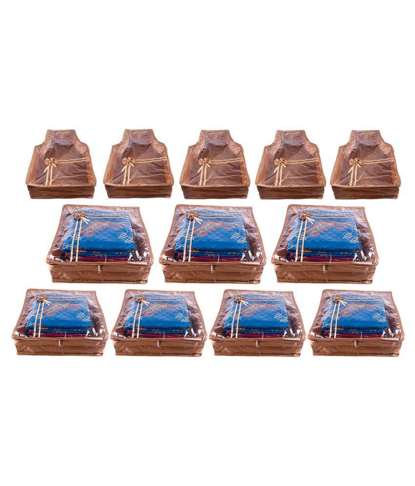 Annapurna Sales Gold Saree Covers - 12 Pcs