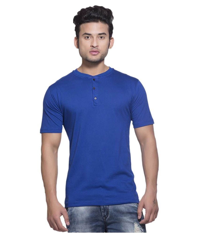 Clifton Blue Henley T-Shirt