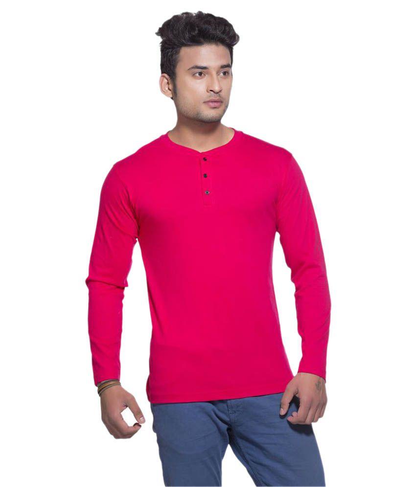 Clifton Red Henley T-Shirt