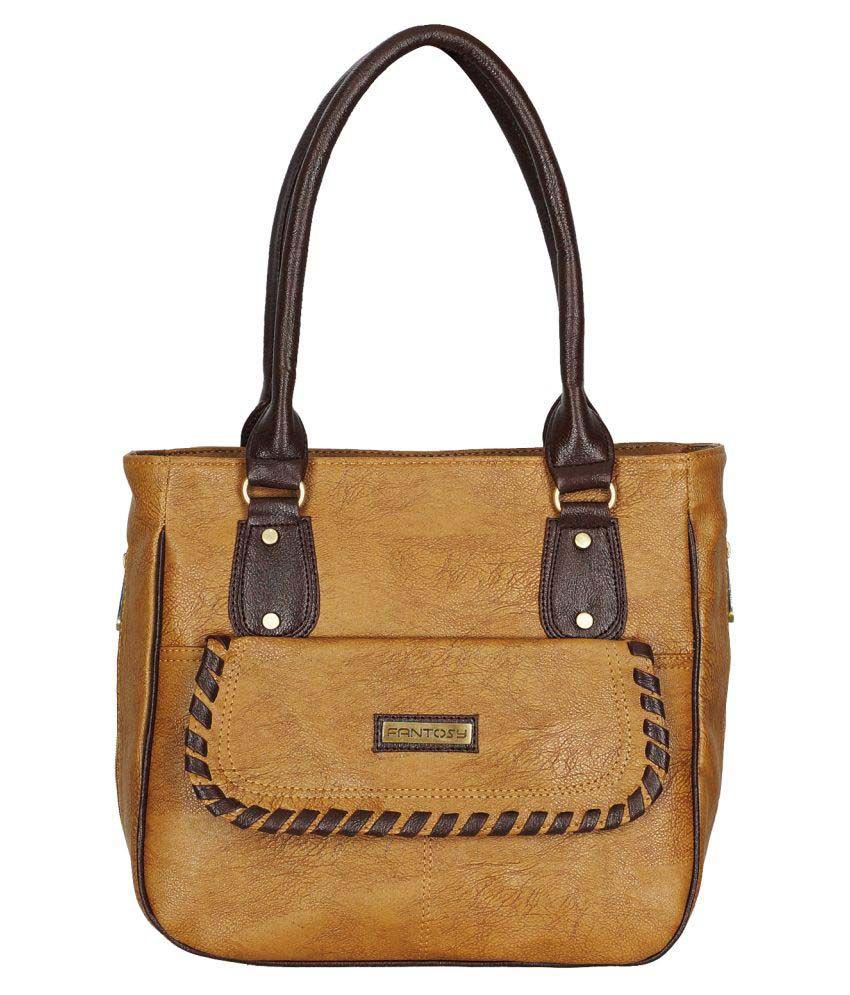 Fantosy Beige P.U. Shoulder Bag