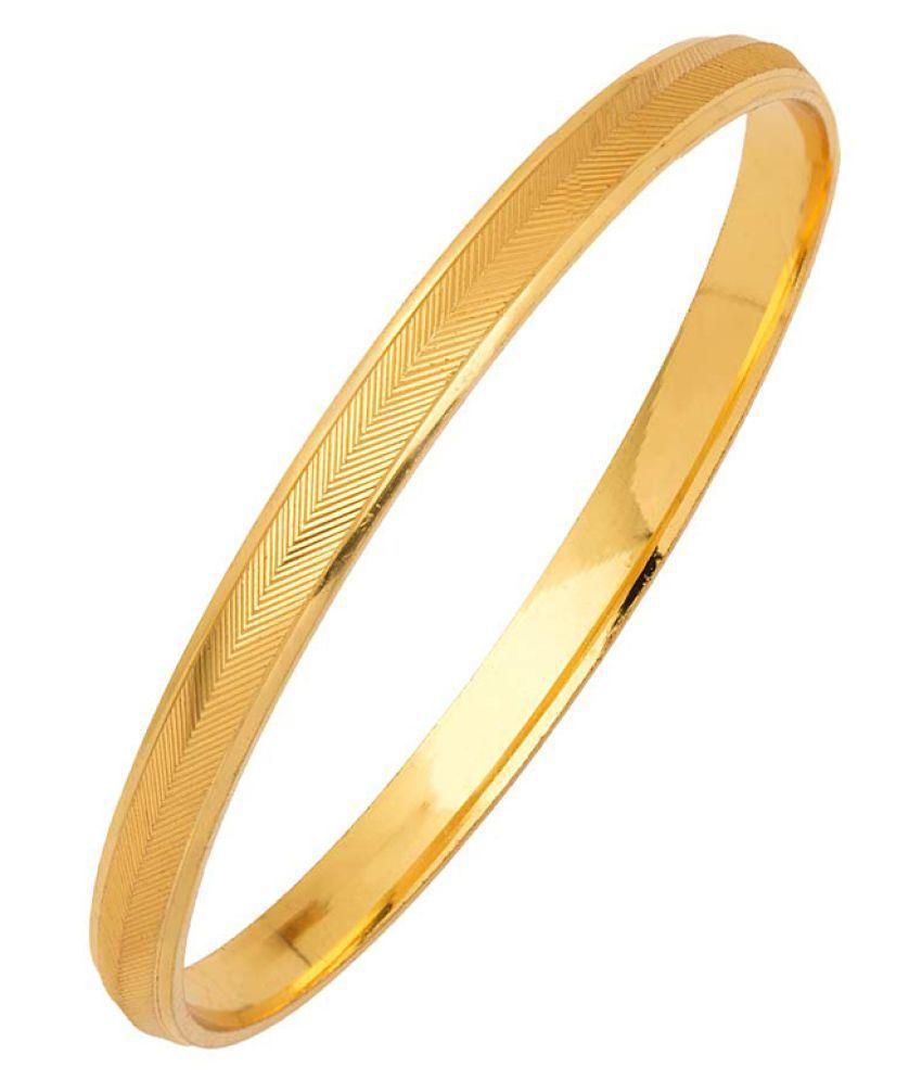 Dare Gold Plated Textured Kada