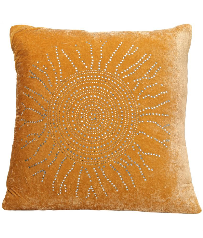 Dekor World Set of 5 Polyester Cushion Covers 40X40 cm (16X16)