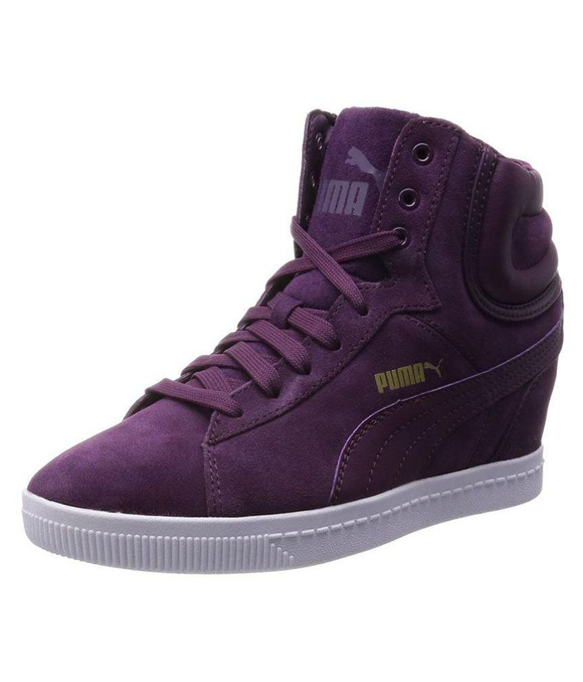 0e82b553735 Puma puma vikky wedge Sneakers Purple Casual Shoes - Buy Puma puma vikky wedge  Sneakers Purple Casual Shoes Online at Best Prices in India on Snapdeal