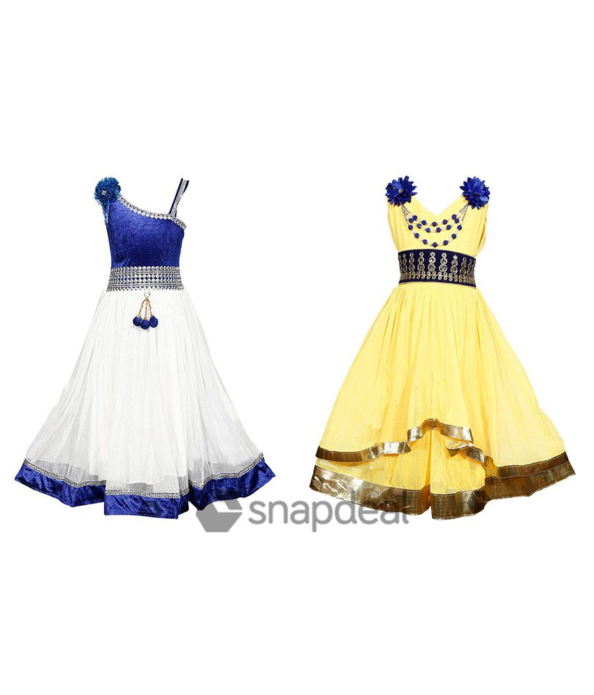 Tiny Toon Multicolour Synthetic Dresses Set Of 2 Pieces