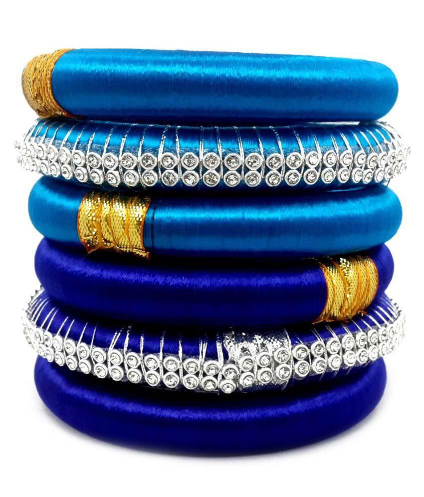 Naksh Silk Thread Bangle Set