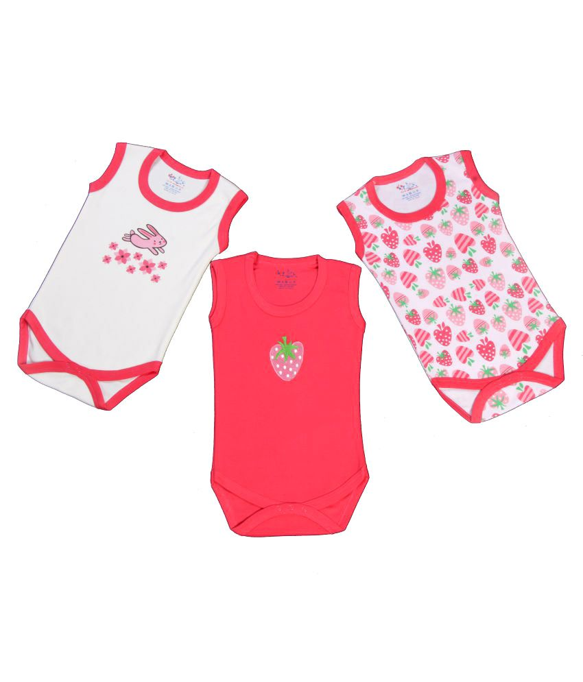 f0f69795ec4b Kaboos Multicolour Cotton Rompers for Babies - Set of 3 - Buy Kaboos  Multicolour Cotton Rompers for Babies - Set of 3 Online at Low Price -  Snapdeal
