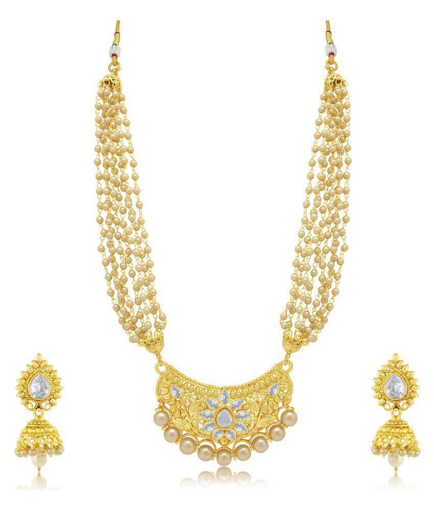 Sukkhi Modern Gold Plated Necklace Set For Women