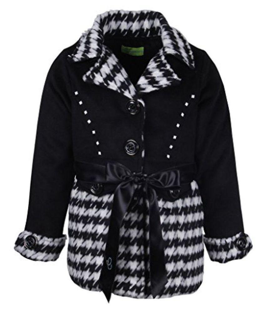 Cutecumber Girls Polyester Embellished Black Full Sleeve Jacket