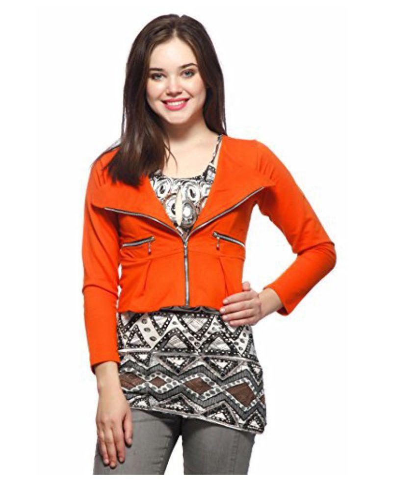 Gritstones Orange Short Jacket-GSJKT246ORG