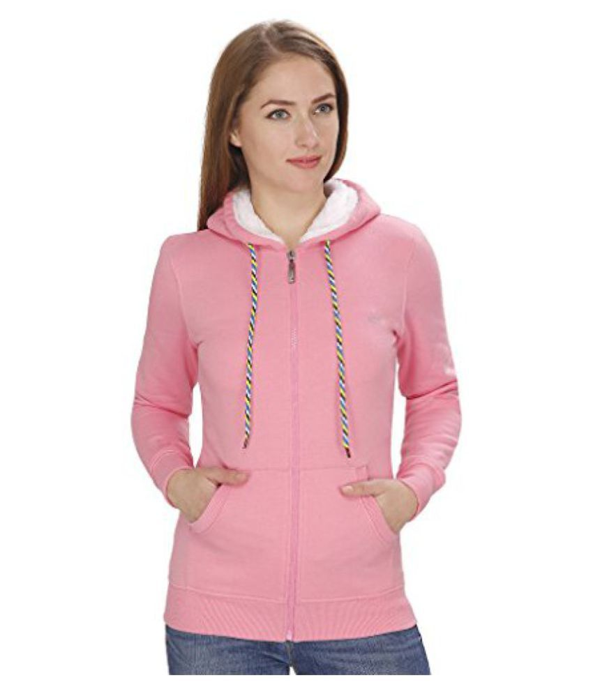 NGT Full Sleeve Pink Sweatshirt For Women.