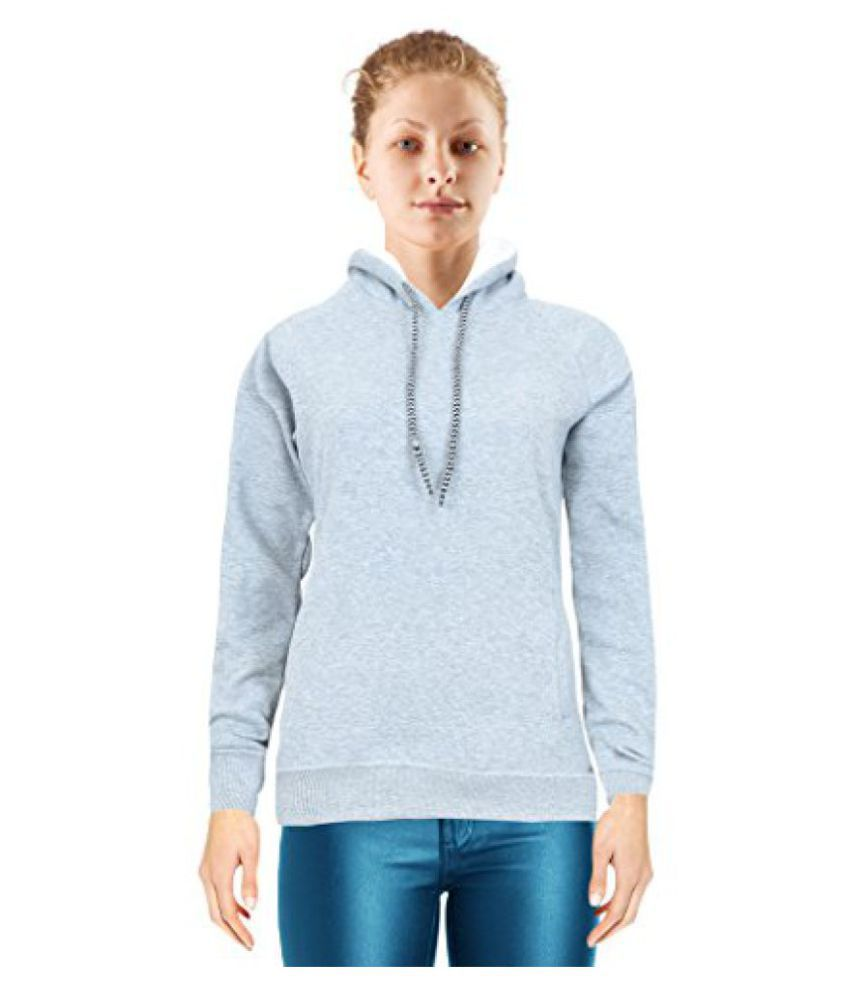 NGT Grey Color Hooded Sweatshirt For Women in High Quality.
