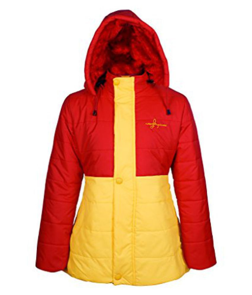 Naughty Ninos Girls Yellow and red filled Jacket for 2 to 12 years