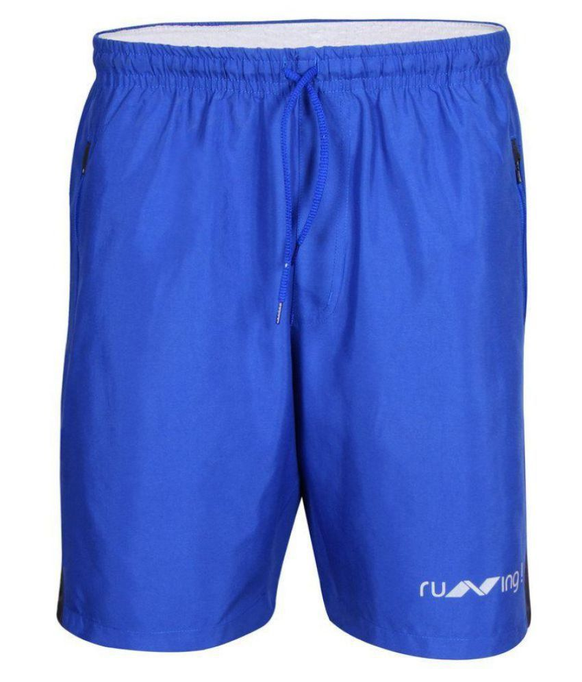 Nivia Blue Running Shorts