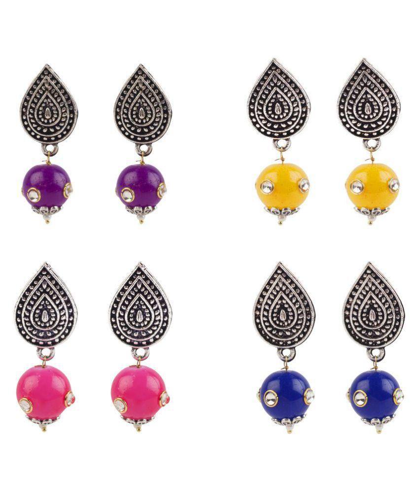 Makezak Drop Earrings Combo of 4 for Women and Girls