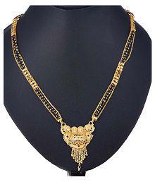 Zeneme Women's Pride Designer Gold Plated Mangalsutra for Women