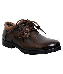 Zoom Brown Party Genuine Leather Formal Shoes