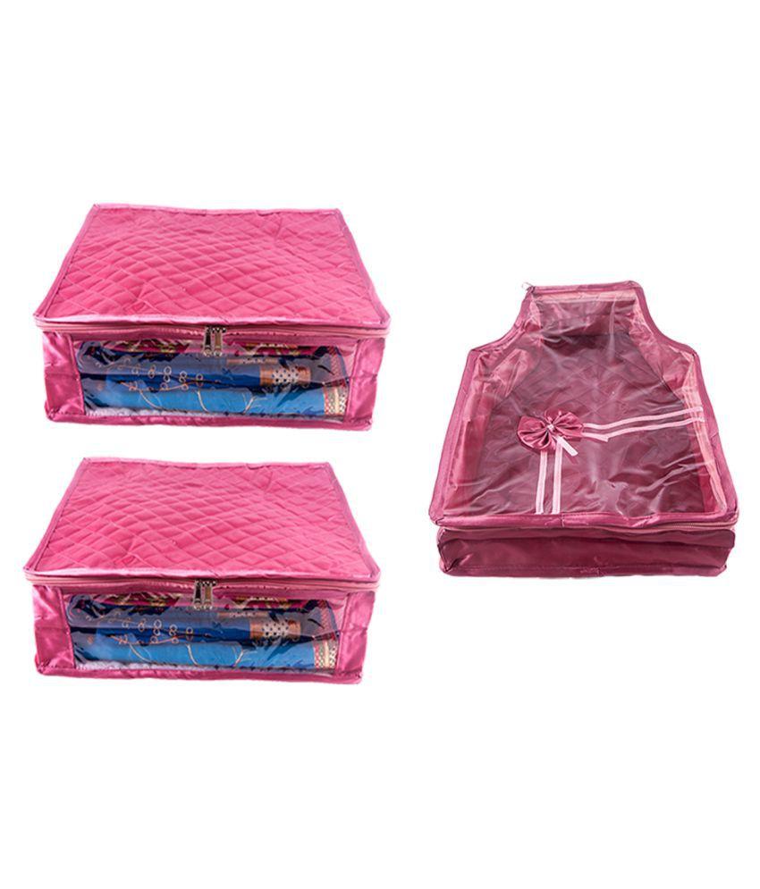 Annapurna Sales Pink Saree Covers - 3 Pcs