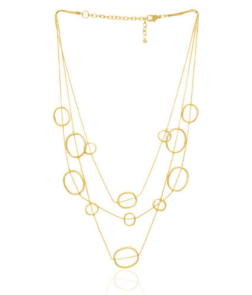 Nyaara Golden Alloy Necklace