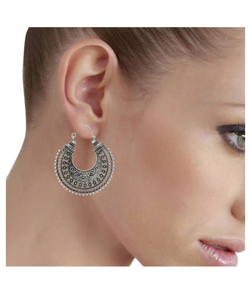 925a41bc7 ... Zeneme Indian Oxidised Silver Plated Earring Jewellery For Women/Girls