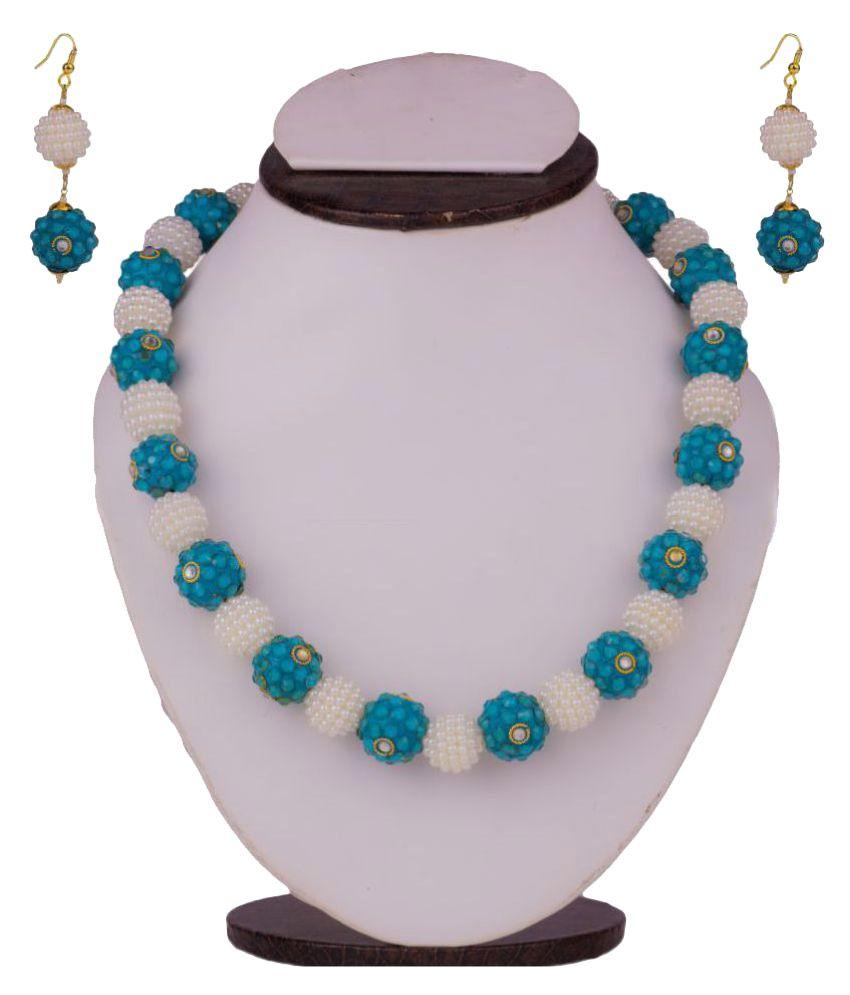Makezak Multicoloured Brass Necklace Set