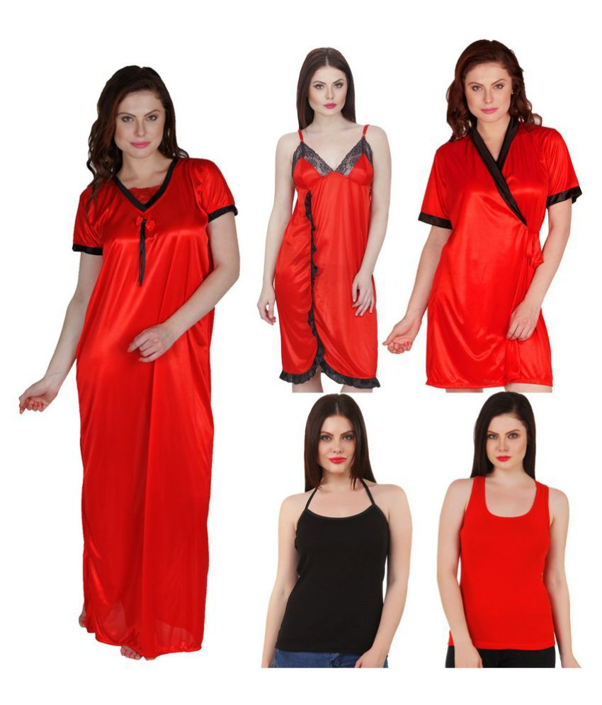67ea4d3b8f Buy Boosah Satin Nighty & Night Gowns Online at Best Prices in India -  Snapdeal