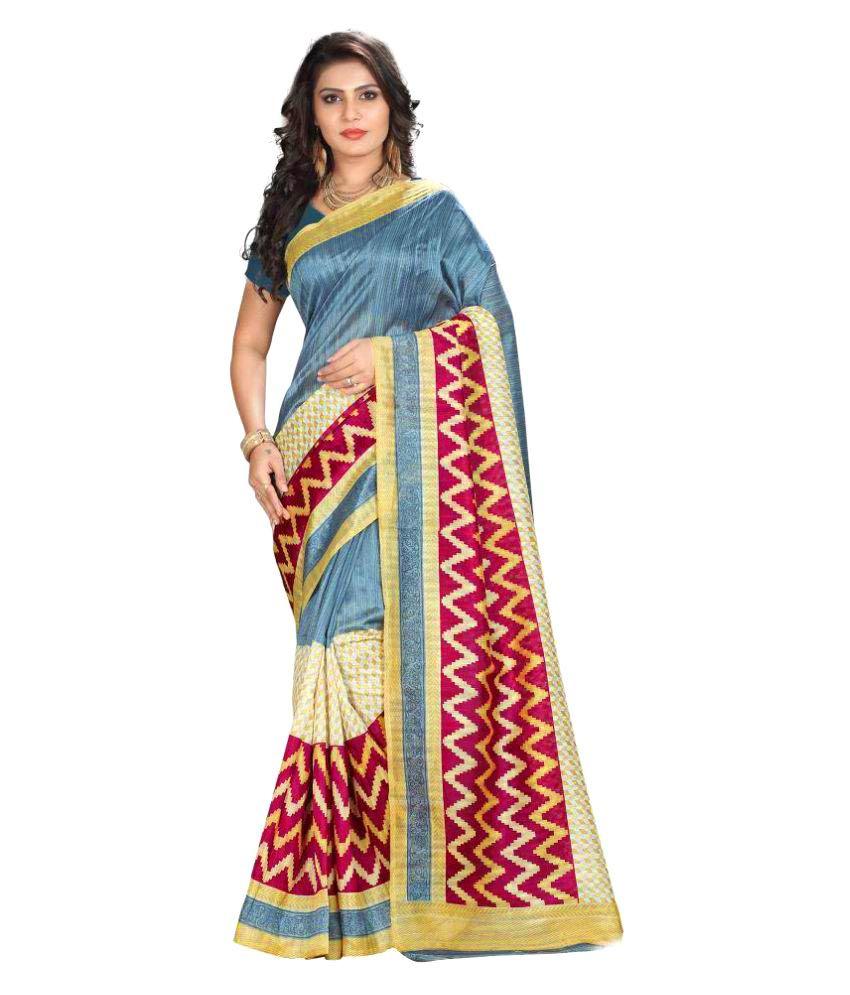Kasturi Multicoloured Bhagalpuri Silk Saree