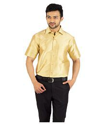 09d2dc6f54a70a Quick View. Khoday Williams Gold Partywear Regular Fit Shirt. Rs. ...