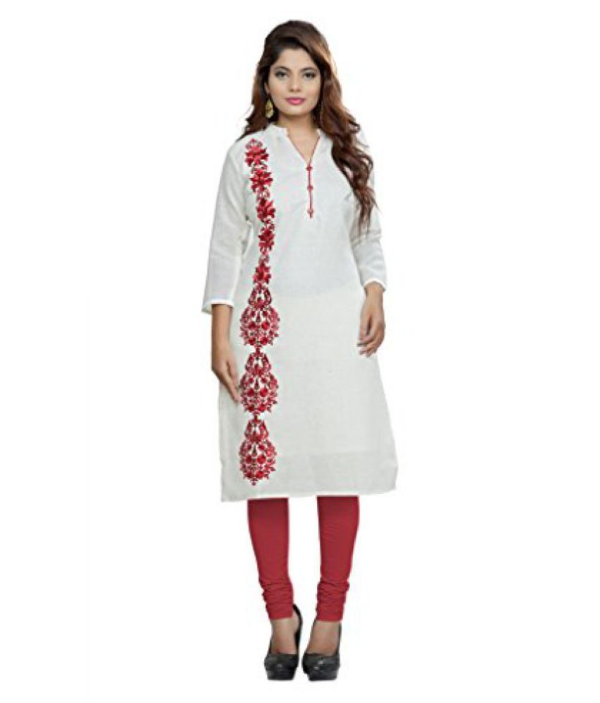 Viva N Diva cream colored Womens Kurtis Offers.