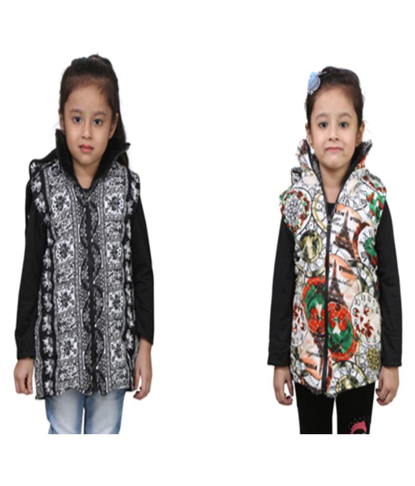Crazeis Multicolor Nylon Light Weight Jackets - Pack of 2