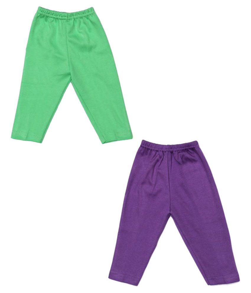 Babeezworld Multicolor Cotton Track Pant - Set of 2