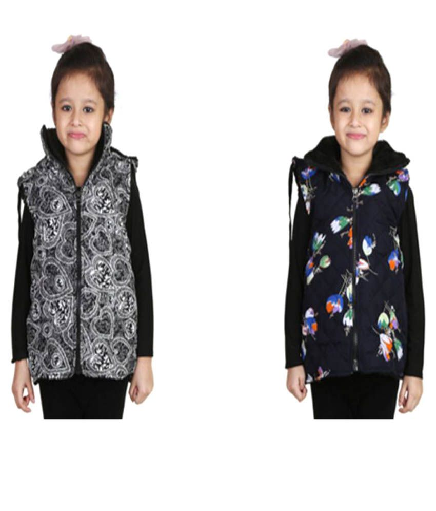 Crazeis Multicolour Jacket Pack of 2