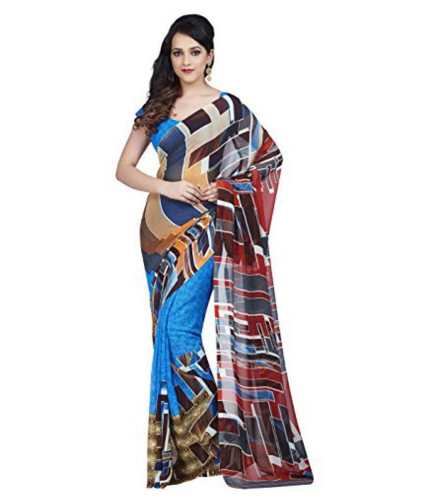 Shonaya Multicoloured Georgette Saree