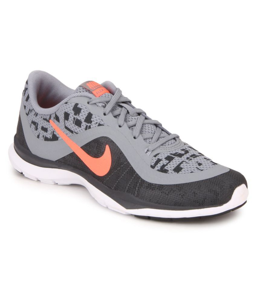 d0e8a8dc3fe8 Nike W Flex Trainer 6 Print Gray Running Shoes Price in India- Buy Nike W  Flex Trainer 6 Print Gray Running Shoes Online at Snapdeal