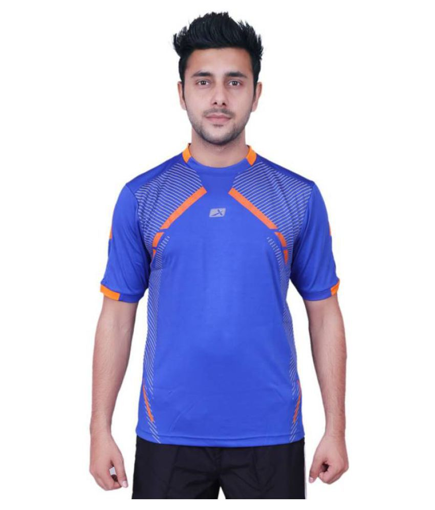 Vector X VTD-005-A Solid Men's Round Neck Blue T-Shirt