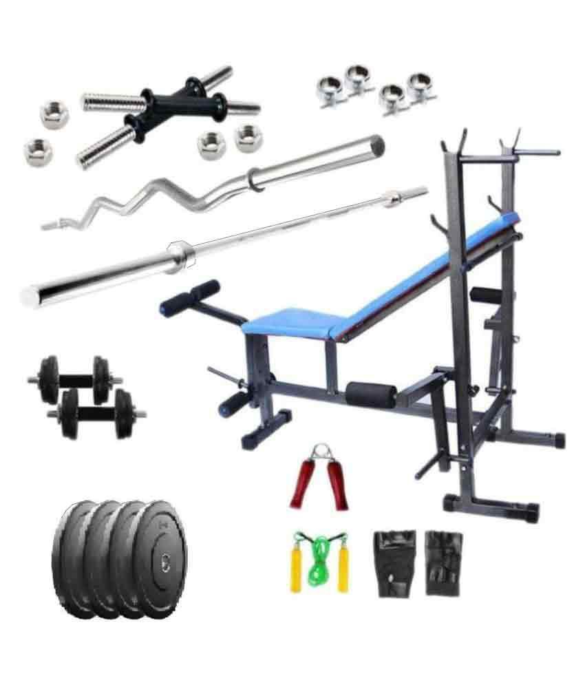 Fitfly kg home gym set with ft curl straight rod