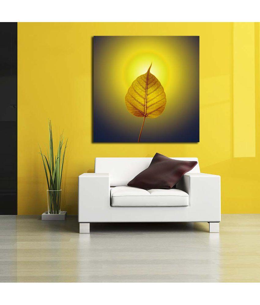Pitaara Box Gold Pho Or Bodhi Leaf With Halo Background Pvc Vinyl