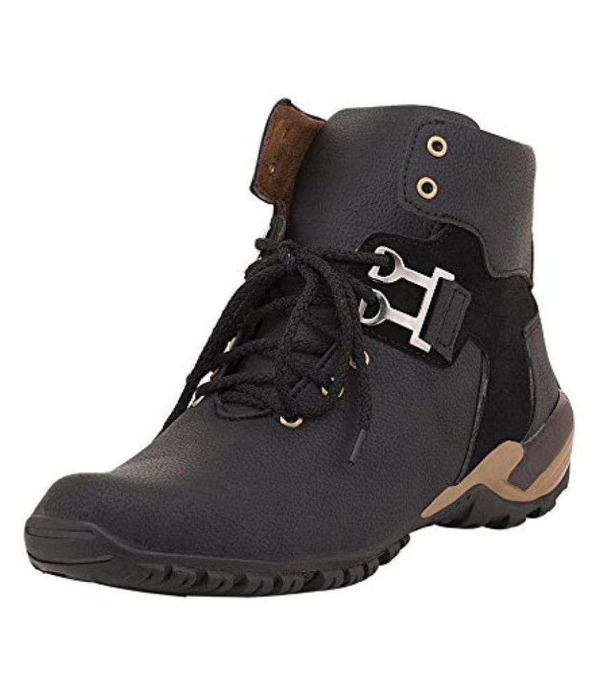 Shoe Island Black Casual Boot