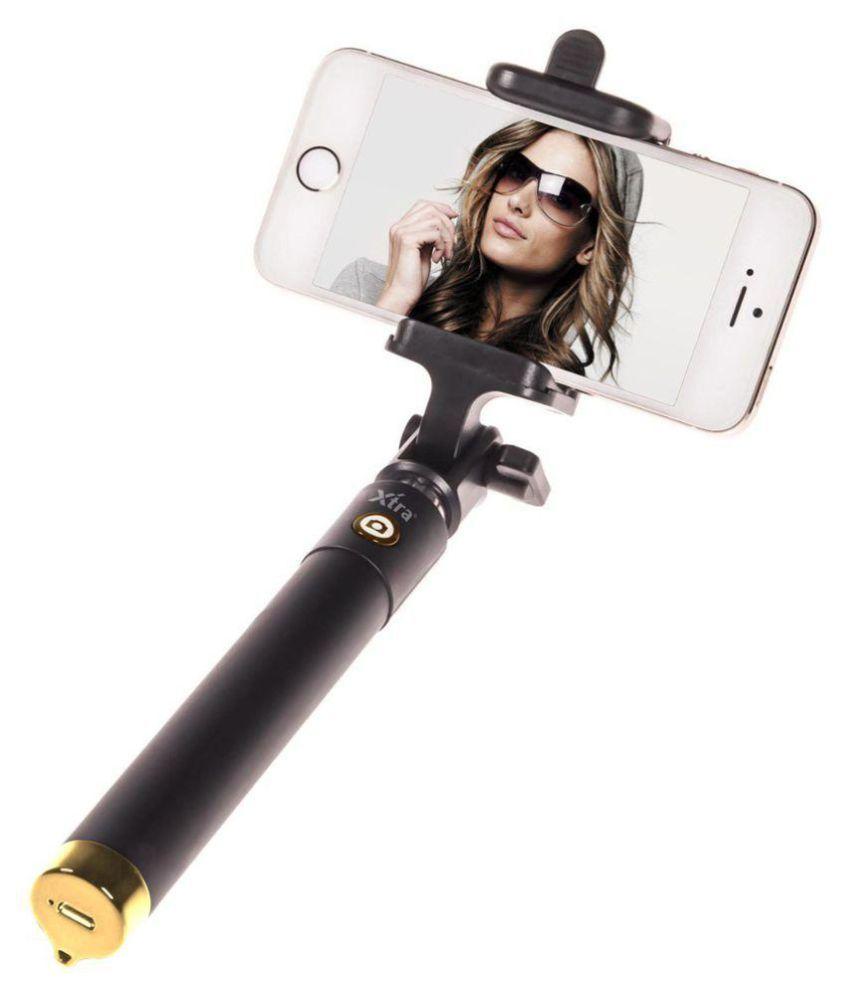 d7a50e2bcc9 Ashu Aux Wire Selfie Stick - Black - Selfie Sticks   Accessories Online at  Low Prices
